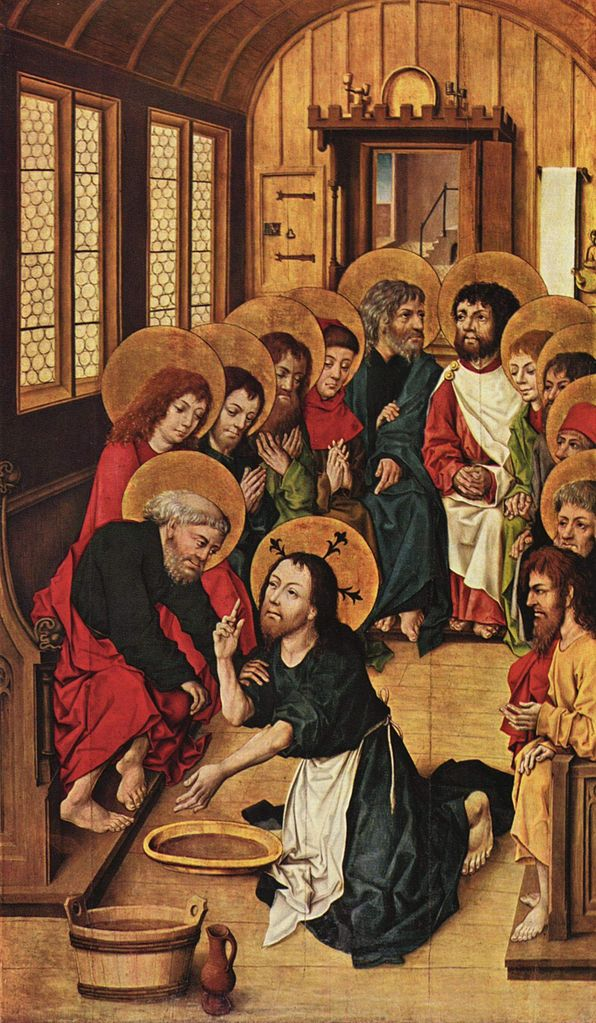 Meister_des_Hausbuches - Christ washing the feet of his disciples