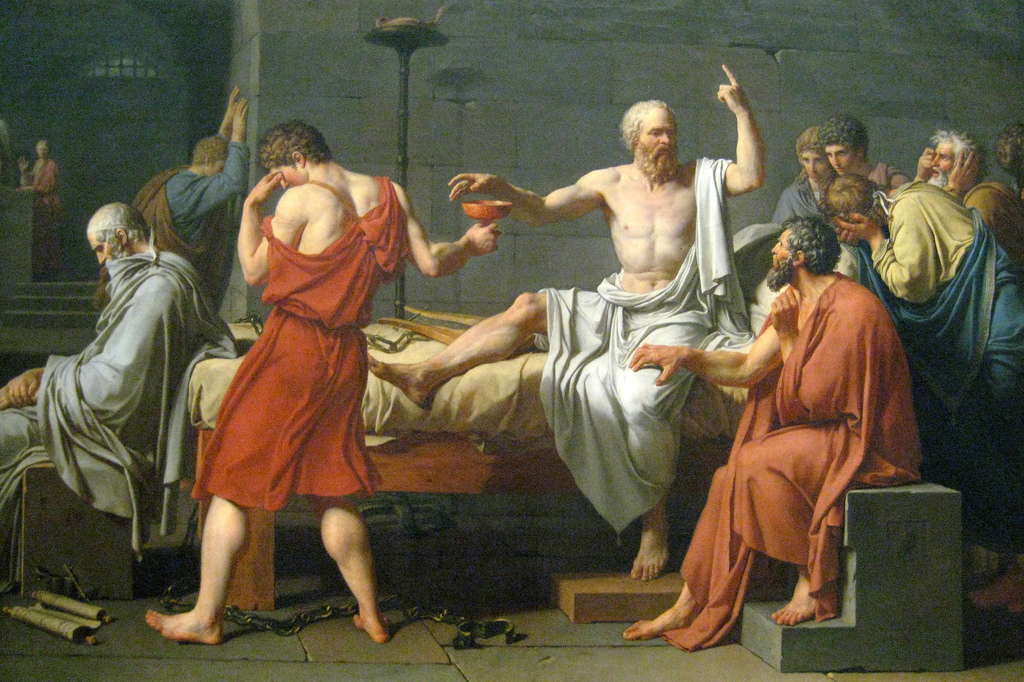 Socrates Death by David at NY Met Museum